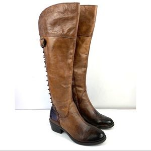 Vince Camuto Bilco High Boots Sz 6.5 Brown